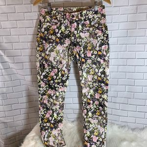 Madewell Floral Skinny Skinny Ankle Jeans Sz 27